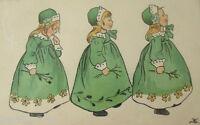 """""""Kinder, Biedermeierstil, Paul Heckscher"""" 1911 ♥  (15059)"""