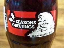 Coca ' Cola 1993 Christmas Santa, SEASONS GREETINGS, 1 - 8 Oz Coke Bottle