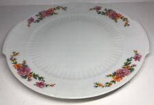 Plat À Tarte En Porcelaine Signée MITTERTEICH BAVARIA D 28 Cm Décor Floral
