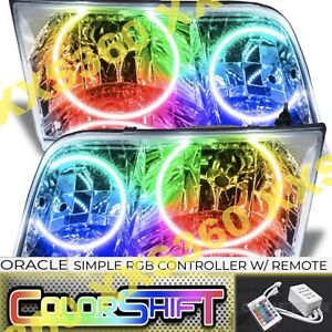 ORACLE Halo 2x HEADLIGHTS Ford Crown Vic Victoria 98-11 COLORSHIFT Simple RGB