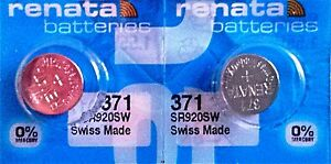 371 RENATA SR920SW D371 (2 Piece) Watch Battery Free Shipping Authorized Seller