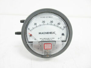 """DWYER 2000-0 DIFFERENTIAL PRESSURE GAGE, RANGE 0-0.50"""" W.C. 0.50 INCHES OF WATER"""