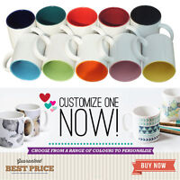 Personalised Mug Tea Coffee Cup Custom Gift Idea Image Photo Design Inner Colour
