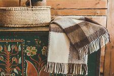 Blanket Throw Bed Sofa Fleece Cozy Plaid Soft Warm 100% Wool 130x210cm Brown Top