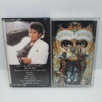 Michael Jackson Thriller Dangerous Cassette Tape Lot of 2 tapes vintage