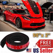 """Universal Black PU Front Bumper Body Spoiler Lip Splitter Diffuser Lip 98""""x2"""""""