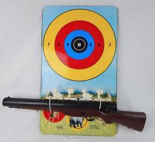 Vintage Marx Targetland Tin Litho Shooting Target Game w/  Kusan Parts Rifle