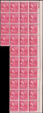 806, Misperforation ERROR Shift PL# Block of 34 Stamps RARE! - Stuart Katz
