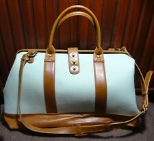 LARGE Modcloth Canvas Leather Tote Handbag Weekender not Camp Director Duffle