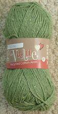Recycled Cotton Aran Knitting Crochet Yarn Wool King Cole 100g Sage