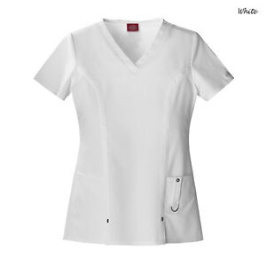 Dickies Scrubs XTREME STRETCH Women's Medical Uniform V-Neck Shirt Top 82851