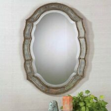 Uttermost Fifi Etched Mirror in Antique Gold