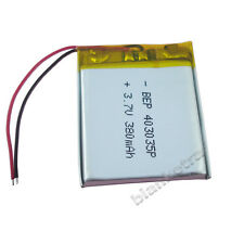 3.7V 380 mAh rechargeable Polymer Li battery For GPS Mp3 Mp4 Bluetooth 403035