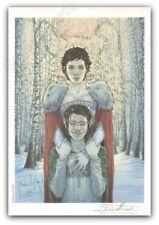 Ex-libris Tillier Le Bois des Vierges Forêt 199ex signé 14,5x21 cm