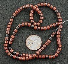 "4mm Drum Mahogany Obsidian Gemstone Beads 15"" Strand"
