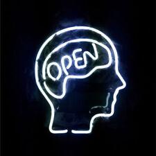 "New Open Mind Neon Light Sign Lamp Beer Pub 14"" Artwork Glass Decor Bar"