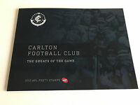 Brand New Mint Condition Carlton FC AFL Collector 2017 Souvenir Stamp Folder