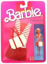 1984 Barbie Fashion Fun Clothing - Red White Casual Dress with Purse #7902, New