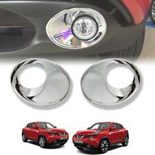 CHROME COVER SPOT LIGHT FOG LAMP TRIM FIT FOR NISSAN JUKE 2014-2018