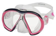 Atomic Aquatics subframe reg mask scuba snorkel equipment gift diver pink/clear