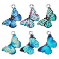 Blaue Emaille Anhänger von Tieren Schmuck von Hand Schmetterling Charme