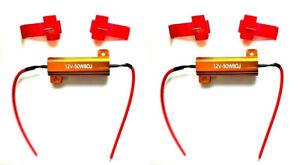 2x Widerstände Lastwiderstand mit Kabelklemmen 12V 50W 8Ω Ohm f. LED Rückleuchte