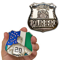 """THE METS QUEENS NEW YORK POLAR BEAR  PETE ALONSO 2.75"""" CHALLENGE COIN"""