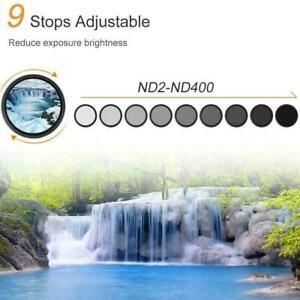 Camera adjustable neutral density filter ND2-400 adjustable New Sale Hot Z