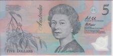 AUSTRALIA P.50a  5 DOLLARS PREFIX AA  ELIZABETH II  UNCIRCULATED