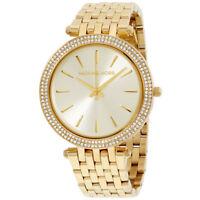 NEW Michael Kors MK3191 Darci Gold Tone Dial Pave Ladies Wrist Watch