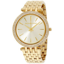 NEW Michael Kors MK3191 Darci Gold Tone Dial Pave Ladies Wrist Watch