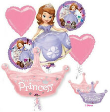 PRINCESS SOFIA THE FIRST BIRTHDAY PARTY BALLOONS BOUQUET DECORATIONS SOPHIA