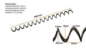Pelltech Förderspirale, 70mm Durchmesser, Pellettransport, Pelleteinspeisung