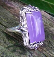 Jade of yesteryear Ring 925er Silber Amethist Lavendel Jade Spinell Hingucker