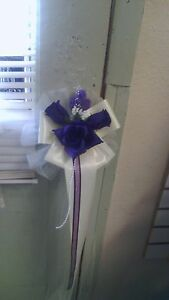 6 wedding pew bows purple, lav and white or any color you choose Sale Sale Sale