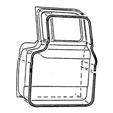 1957-1958-1959-1960 FORD TRUCK COMMERICAL DOOR SEAL KIT FOR F100 / 1100