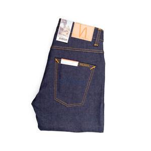 Nudie Jeans, Grim Tim, Dry True Navy, Dunkelblau, Bio-Baumwolle, 113111, Neu