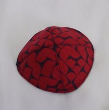 Navy and Red Modern Yarmulke/Kippah/Kippa/Kipa