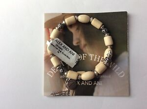 ALEX and ANI Woodland Hush Blonde Beaded Bangle Bracelet NWT Russian Silver Rare