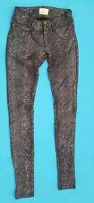 Met Jeans snake skin pattern slim leg jeans Leggings Size 25 W26 L30