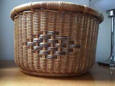 Vintage Wicker Bamboo Basket 17.5inch