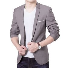 Men's Slim Fit One Button Suit Blazer Business Leisure Work Coat Jacket Outwear