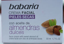 FACE BABARIA CREAM new 50ml face cream for dry skin almonds NATURAL moisturizing