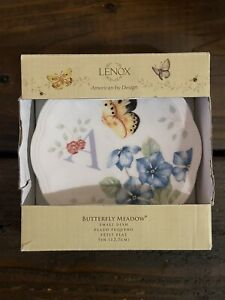 """Lenox Butterfly Meadow Small Dish Initial """"A"""" New In Box"""