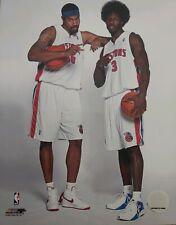 BEN WALLACE & RASHEED WALLACE 8X10 PHOTO Detroit Pistons