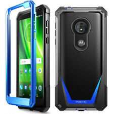 For Moto G6 Play / Moto G6 Forge Shockproof Rugged [Heavy Duty] Case Cover Blue
