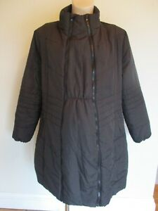 SIMPLY BE MATERNITY & BEYOND BLACK QUILTED JACKET COAT SIZE 16
