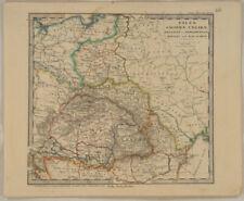 POLEN Ungarn Orig Perthes Landkarte um1880 SIEBENBÜRGEN Walachei Moldau Rumänien