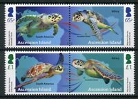 Ascension Island 2018 MNH Migratory Species Turtles 4v Set Reptiles Stamps
