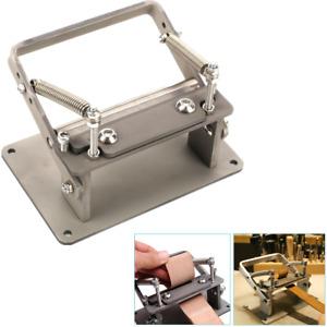 Leather Peeling Machine Manual Skiver Peeler Splitter Skiving Paring Machine DIY